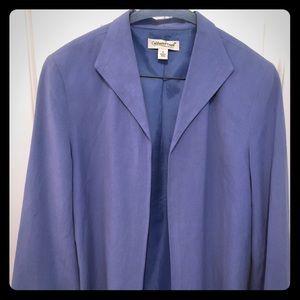 Coldwater Creek linen work blazer jacket